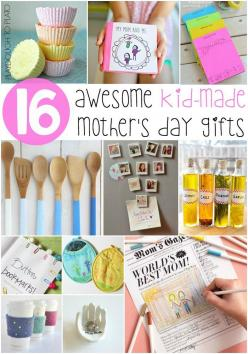 Awesome Kid-Made Mother's Day Gifts. Homemade refrigerator magnets, bath bombs, personalized stationary... tons of fun Mother's Day gifts from kids.: Craft, Mothers Day, Fun Mothers, Kid Made Mother S, Kid Made Mothers, Kids, Mother'S Day, Awe