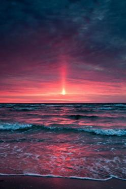 ✮ Beautiful Sunset: Stunning Photography, Sky, Sunsets Sunrises, Beautiful Sunset, Pink Sunset, Ocean, Beach, Sunrise Sunsets, Sunrises Sunsets