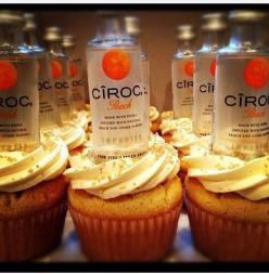 Ciroc cupcakes: Alcohol Infused Cupcakes, Peach Cupcakes, Drunken Cupcakes, Food, Birthday Idea, Alcoholic Cupcakes, Ciroc Cupcakes, Dessert