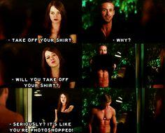 crazy stupid love. I think I should watch this so I won't keep seeing this quote and not know what it's all about