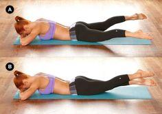 crunchless abs workout. great for the legs and booty too