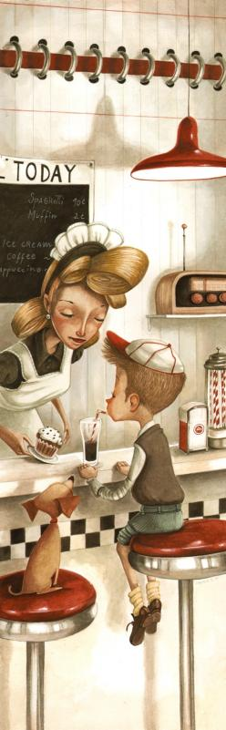 Daniela Volpari http://www.pinterest.com/smiller8/inspiration/: Cute Cartoon, 50S Style, 50 Style, Illustrations, Illustration, Drawing