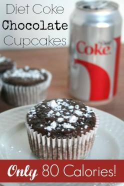 Diet Coke Chocolate Cupcakes - only 2 ingredients and only 80 calories each!: Desserts, Sweet, Chocolates, Dessert Recipes, Diet Coke Cake, Skinny Chocolate Cupcakes, Coke Chocolate, Skinny Cupcakes, Treat