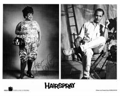 Divine (as Edna Turnblad) and John Waters, Hairspray, 1988: Waters Forever, Divine Intervention, John Waters, Waters Gang