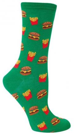 Do you want fries with that? The answer is always yes! Fits women's shoe size 5-10.: Food Socks, Fit Women, Drink Socks, Fits Women S, Tights Socks, Products, Fast Foods, Awesome Stash