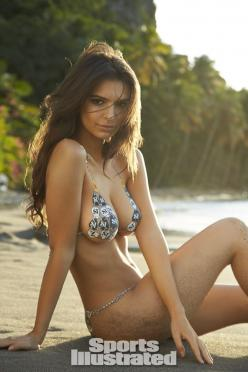 Emily Ratajkowski Swimsuit Body Paint - Sports Illustrated Swimsuit 2014 - SI.com Photographed by Walter Iooss Jr. in St. Lucia. Swimsuit inspired by Susan Holmes Swimwear from the 2007 Susan Holmes Swimwear suit.: Sports Illustrated Swimsuit, Emilyratajk