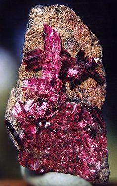 Erythrite from Morocco: Gems Constellations Crystals, Rich Color, Crystal N Stone, Crystals Minerals, Beautiful Color, Erythrite Crystals, Crystals Pendulumns