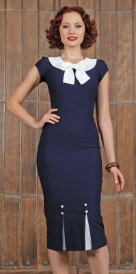 FRSTCL-03 NAVY-just too cute. Love the detail at the top and bottom.: Fitted Dresses, Fashion, Staring, Style, Vintage, Clothes, Navy Dress, Class Navy, Frstcl 03 Navy