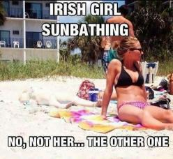 haha hilarious!: Irish Girls, Funny Stuff, Irishgirls, Humor, Funnies, Things, Beach, Irish Girl Sunbathing