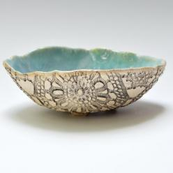 handmade bowl Ceramic Lace Bowl rustic stoneware pottery in Beach Day: Handmade Pottery Bowls, Bowls Handmade, Bowls Ceramic, Beach, Handmade Ceramic Bowls, Ceramics Bowls