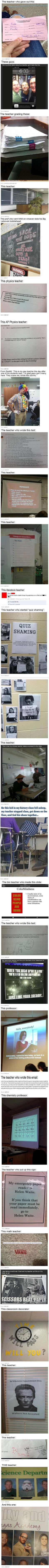 Hilarious! I would become a teacher just to do things like this. :)