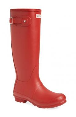 Hunter 'Original Tall' Rain Boot (Women) available at #Nordstrom    (Schmoops - I want them in Olive Green please): Boots Women, Hunter Boots, Rain Boots, Hunters Rainboots, Rainboots Fashion, Hunter Rainboots, Red Rainboots