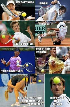 I forgot how to tennis // funny pictures - funny photos - funny images - funny pics - funny quotes - #lol #humor #funnypictures: Funny Things, Funny Pics, Funny Pictures, Funny Stuff, Funnies