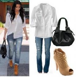 Im not a fan of Kim Kardashian, but this casual look I love!!!: Kim Kardashian, Kardashian Style, Fashion Style, Clothes, Outfit, Casual, Styles, Kardashian Fashion