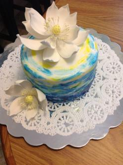 my mom's b'day cake ~inspiration from Caljava Fondant http://www.caljavaonline.com/: Cakes Cookies, Cake Tutorial, Cookies Candy Cakes, Cake Flowers, Cakes Inspiration, Cake Inspiration, Fondant Flowers, Cake Decorating, Mom