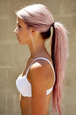 My mom should let's do this to my hair with blue: Hairstyles, Hair Styles, Haircolor, Makeup, Long Hair, Hair Beauty, Pony Tails, Long Ponytail, Hair Color
