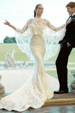 Need/Want a cape. Wear feathers for September wedding next year and either my gray fox or white rabbit to the October one.  Pronovias: Wedding Dressses, Fashion, Wedding Ideas, Wedding Dresses, Weddings, Wedding Gowns, Lace Wedding, Dream Wedding