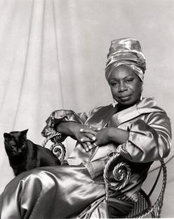 Nina Simone -: Music, Cat People, Cats, Famous People, Queen, Singer, Nina Simone, Photo, Black Cat