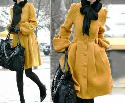 Oh my goodness. Made to order cashmere dress coat. AKA GORGEOUS (also $126 ....): Jacket, Fashion, Style, Color, Dress, Outfit, Yellow Coat, Coats