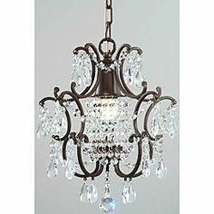 @Overstock - Brighten your home decor with a crystal chandelier  Ceiling fixture has a brown finish  Lighting also showcases clear crystalshttp://www.overstock.com/Home-Garden/Clear-Crystal-Brown-Base-Chandelier/4512400/product.html?CID=214117 $109.99