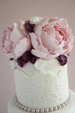 Peonies by Cotton and Crumbs, ..let me know when you can make these flowers and you can make me a b-day cake and I still wont eat it..I will frame it...: Cupcake, Mini Cake, Amazing Cakes, Weddings, Wedding Cakes, Beautiful Cakes, Photo, Peonies