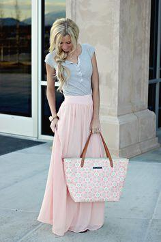 Pink + Grey spring combo...I love this so much! !