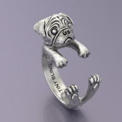 Pug Breed Jewelry Cuddle Wrap Ring: Pug Rings, Amazing Pug, Cuddle Ring, Breed Jewelry, Pugs, Pawsome Rings, Pug Jewelry