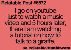 reminds me of LATE nights with Malarie and Billie! Youtube would lead us to some funny places! lol: Quotes, Relatable Post, Truth, Youtube, Funny Stuff, So True, Humor, Funnies