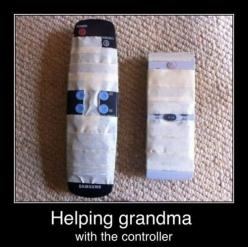 rofl!! Need to do this for all my residents hahaha.: Giggle, Idea, Funny Stuff, Funnies, Humor, Remote, Helping Grandma