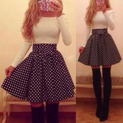 Sexy Long-Sleeved Dress UY04: Polka Dots, Fashion, Sexy Dresses, Style, Clothing, Mini Dresses, Long Sleeved Dress, Outfit