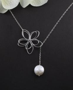 Sterling Silver Jewelry - Ella Anderson - Aw Naw SongFic: Bling, Style, Simple, Sterling Silver Jewelry, Things, Necklaces, Accessories, Pretty, Flower Necklace