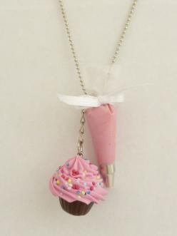 The Bakers Necklace sweet pink Cupcake necklace with pink Pastry Bag charm great as tea party necklace. $22.99, via Etsy.: Pink Cupcake, Baker Gifts, Adorable Cupcake, Polymer Clay Cupcake, Cute Necklace, Bakers Necklace