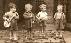 The lead singer always gets the girls.: Music, Band, Life, Vintage Photos, Children, Kids, People, Boy, Photography