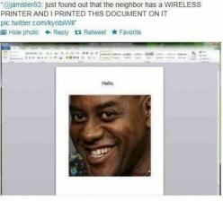 This guy is my hero. This is hilarious: Bucket List, Giggle, Funny Stuff, Funnies, Neighbor, So Funny, Wireless Printer