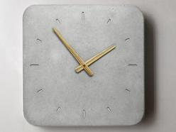 Wall Clock Clock of concrete Kitchen Clock by WertWerke on Etsy: Decor, Kitchens, Concrete Wall, Kitchen Clocks, Watch, Concrete Kitchen, Wall Clocks