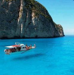 Zakynthos Island Ionian Sea Greece.Looks like the boat is floating in the air: Water, Bucket List, Greece, Islands, Beautiful Place, Travel, Places