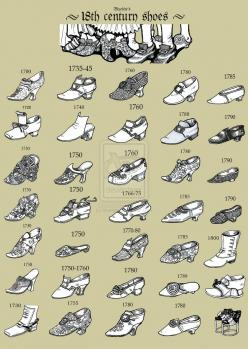 18th Century Shoes [ being more familiar with shoe details might translate better to the book cover than clothing details but a decorative book arts book doesn't get the wear a shoe does so I can go for a few more delicate details ]: Shoe Collection,
