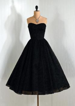 1950s Dress: Fashion, Style, Vintage Dresses, 1950S Timeless, 1950S Dresses, Vixen Vintage, Timeless Vixen, Black Dress