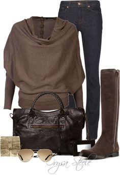 """""""Chocolate Chic"""" by orysa on Polyvore"""