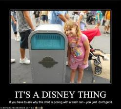 """if you have to ask why this child is posing with a trash can - you just don't get it."" :-D: Happiest Place, Disney Stuff, Walt Disney, Talking Trash, So True, Things Disney, Disney Freak, Push, Disney Thing"