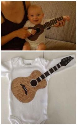 36 Onesies For The Coolest Baby You Know/buy a bunch of plain and design your own w/fabric paint!: Baby Idea, Cute Baby Boy, Gifts For Baby Boy, Baby Boy Gift, Guitar Gift, Baby Boy Onesie, Baby Gifts For Boy, Baby Onesie