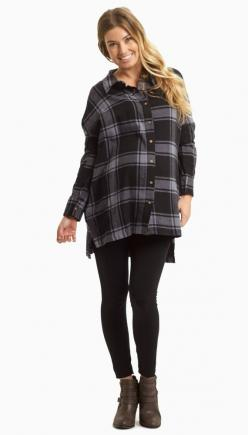 A trendy plaid flannel button up maternity top perfect for the cold months ahead. Wear this button up with maternity leggings and boots for a complete look.: Maternity Fashion, Maternity Leggings, Plaid, Pinkblush Maternity, Cold Months, Maternity Style,