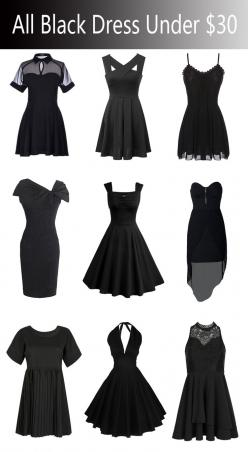 All the black dresses under $30 from #Choies.com!like them or not?never miss them!: