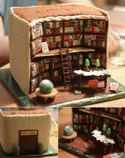 Amazing Library Cake: Libraries, Books, Cakes, Food, Amazing Cake, Library Cake, Librarycake, Book Cake, Birthday Cake