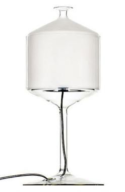 Bonne Nuit lamp BONNE NUIT TABLE LAMP $780.00  From designers Michele De Lucchi and Alberto Nason for Produzione Privata, made in Italy, the Bonne Nuit Table Lamp serves light at the table, a fine glass goblet covered with a glass cupola diffuser.  Table