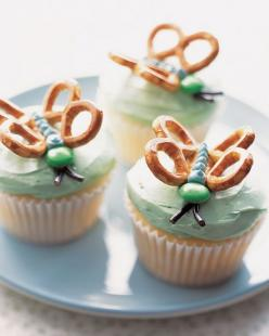 Butterfly Cupcakes - Martha Stewart Cupcakes - (thinking of these for Zoe's dedication): Fun Recipes, Birthday, Butterfly Cupcakes, Sweet, Butterflies, Food, Cupcake Idea, Party Ideas, Dessert