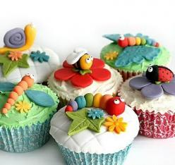 Cute Cupcake ideas: Cup Cakes, Birthday, Sweet, Cupcake Ideas, Bug Cupcakes, Animal Cupcakes, Cupcake Toppers, Party Ideas