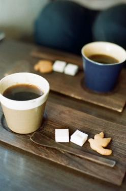Cute way to serve coffee, I love the little bird petit four. These should be made daily and served complimentary with every coffee (Dine in only): Cup, Tea Time, Coffeetime, Food, Cafe, Coffee Time, Coffee Shop