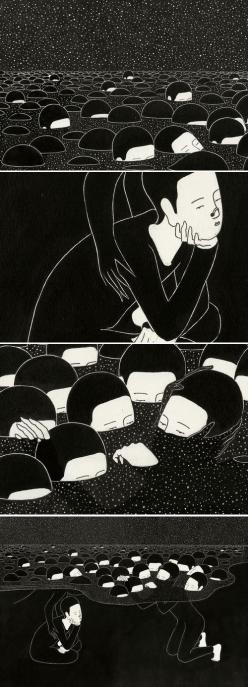 Daehyun Kim - 말더듬이 (A Stammerer), 2012 http://www.moonassi.com/: Art Illustrations, Sea Illustration, Graphic Illustration, 3 Illustration, Depression Illustration, Illustration Art, Collage Illustration, Daehyun Kim