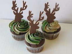deer camo cupcakes - I need to learn to make these so i can have them at Robert's 30th :D: Deer Cake, Camo Cupcakes, Hunting Cupcake, Hunting Cake, Camo Cakes, Deer Cupcakes, Camo Party, Party Ideas, Deer Camo